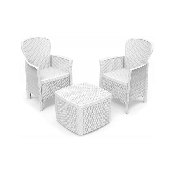Set Akita Bianco 2 Poltrone E 1 Tavolino Famila Sud Cosicomodo